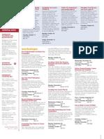 Fall 2010 Workshop Schedule