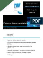 Aula 01 Desenvolvimento WEB 02-03-2018