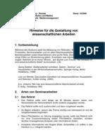 Regeln Hausarbeiten 2007
