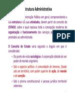 Estrutura Administrativa Slides