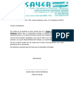 Carta Recomendacion Sayer