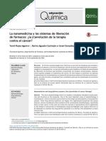 1 - La Nanomedicina y Los Sistemas de Liberación de Farmacos