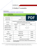 Datasheet of 2 Methyl 7 Azaindole|CAS 23612-48-8|sun-shinechem.com