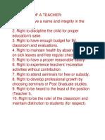 10 Rights of a Teacher