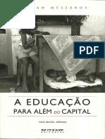 Livro - A Educação Para Além Do Capital