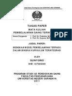 Tugas Paper Sains Terintegrasi