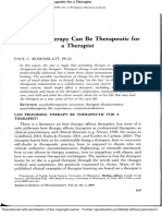 Rosenblatt 2009 Providing Therapy Can Be Therapeutic for Therapist