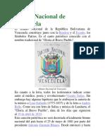 Himno Nacional de Venezuela Premilitar