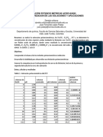Informe Valoración Potencio Métricas Acido Base
