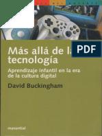 Más allá de la tecnología, David Buckingham