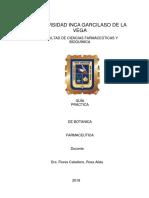 Botánica Farmaceutica Guia RF 2018