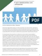 Intervenções FAP Para Adolescentes Com Comportamento Antissocial - Portal Comporte-se