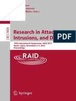 (Lecture Notes in Computer Science 9404) Herbert Bos, Fabian Monrose, Gregory Blanc (Eds.)-Research in Attacks, Intrusions, And Defenses_ 18th International Symposium, RAID 2015, Kyoto, Japan, Novembe