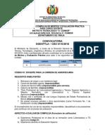CDO 110 TARIJA Inst Tecn Oconnor