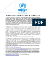 GUIDANCE NOTE ON THE OUTFLOW OF VENEZUELANS