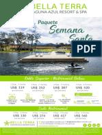 Paquetes Semana Santa 2018 - Tarifas