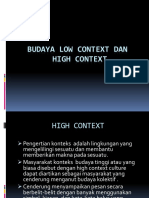 Budaya Low Dan High Context