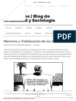 Memoria y Visibilización de Los Débiles