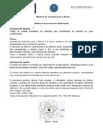 Material de Consulta - Eletricidade I-1º Tópico - Estrutura Da Matéria