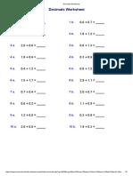 Decimals Worksheet1