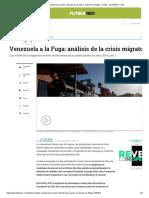 Cuántos Venezolanos Están Saliendo de Su País y a Dónde Se Dirigen