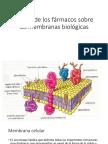 Acción de Los Fármacos Sobre Las Membranas Biológicas