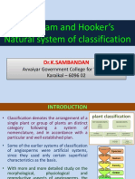 Bentham and Hooker's Classification