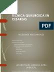 Tecnica Quirurgica en Cesareas