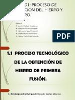 UNIDAD 1- proceso de obtención del hierro y el acero- Equipo 3