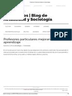 Profesores Particulares Mejoran El Aprendizaje