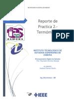 Reporte de Practica 2.- Termometro (MartinAG-8B)q