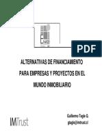 Alternativas de Financiamiento Para Empresas y Proyectos en El Mundo Inmobiliario
