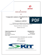 Comparative Analysis of Marketing Strategies of Vodafone & Airtel