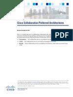 Cisco Collaboration Preferred Architectures