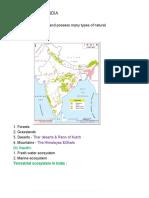 Ecosystems of India