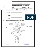 UKG GK FinalTerm Worksheet