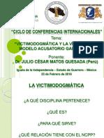 Victimodogmática y la Víctima en el Modelo Acusatorio Garantista