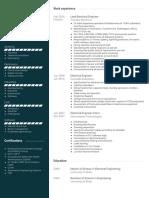 Team Resumes Visualcv Resume