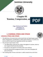 Chap 01-Tension, Compression, And Shear