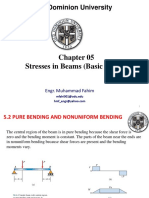 Chap 05- Stresses in Beams (Basic Topics)