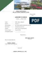 SAMPLE TRAVEL ORDER