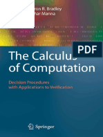 Aaron R. Bradley, Zohar Manna-The Calculus of Computation_ Decision Procedures With Applications to Verification-Springer (2007)