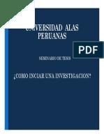 Tema , Problema y Objetivos para una tesis