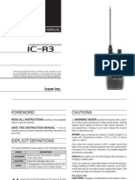 Icom IC-R3 Instruction Manual
