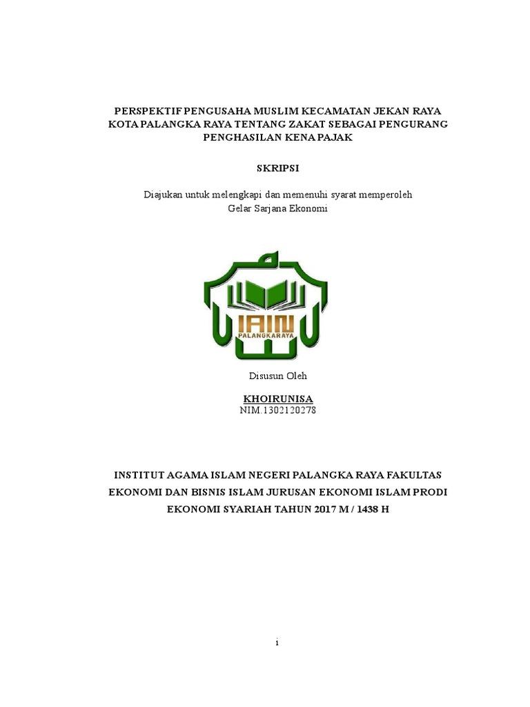 Judul Skripsi Hukum Ekonomi Syariah Tentang Zakat Ide Judul Skripsi Universitas