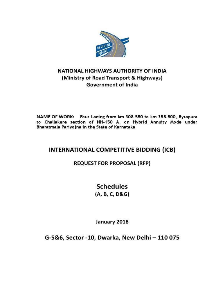 6 Package-II - Final Schedules PKG-II   Highway   Road