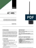 Icom IC-R5 Instruction Manual