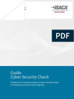 Guide to Cyber Security Checks