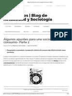 Algunos Apuntes Para Una Sociología Del Consumo-Parte 2