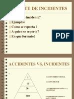 El Reporte de Incidentes